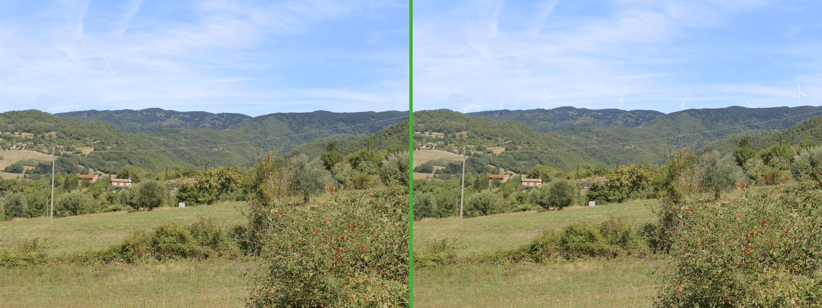 Ante Operam/ Post Operam eolico